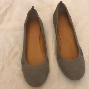 J. Crew Gray Ballerina Flats